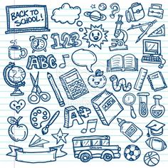 Stock vector: School Vector Doodles