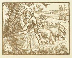 Ex libris by Lucien Pissarro for J. M. Andreini