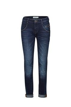 Alley Blue Jeans are cut in a relaxed tapered fit to be used slightly baggy or high waisted. Designed with zipper coin pocket at front and finished with embroidery at back pockets. The classic blue wash can be dressed up or down.