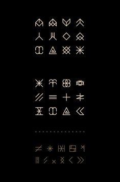 Enfant du Kult Font on Behance symbols set in Icon