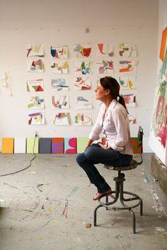 #CCArts faculty Linda Geary in her studio