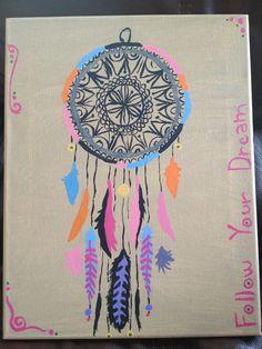 Dream catcher i painted By: Rachel Baas