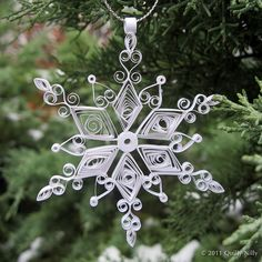 Holiday Harmony, quilled snowflake ornament by quillynilly, via Flickr