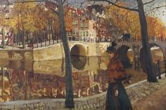 An Elegant Lady Strolling along a Canal in Amsterdam, George Hendrik Breitner. Dutch An Elegant Lady Strolling along a Canal in Amsterdam, George Hendrik Breitner. Amsterdam, Dutch Painters, Dutch Artists, Traditional Paintings, Figure Painting, Art Pictures, Painting Inspiration, Art History, Concept Art