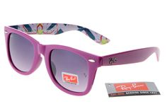 Cheap Rare Print Ray Ban RB2185 Plum Red Pattern Frames Grey Lenses  $14.87