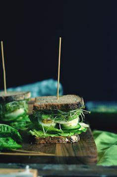 green veggies sandwiches