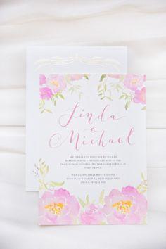 Floral invitations: http://www.stylemepretty.com/destination-weddings/2015/03/06/romantic-elopement-in-paris/ | Photography: Le Secret D'Audrey - http://www.lesecretdaudrey.com/