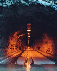 Fire and Ice, by Kyle Kuiper... #Road #YosemiteNationalPark #Tunnel #Centerline