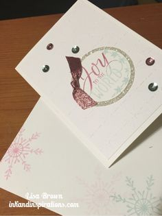 Fourth in a series of 2016 Christmas cards from Lisa Brown, Stampin' Up! Demonstrator.