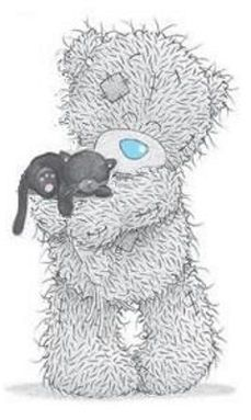 Tatty Teddy and kitty Teddy Images, Teddy Bear Pictures, Cute Images, Cute Pictures, Tatty Teddy, Photo Ours, Art D'ours, Blue Nose Friends, Bear Illustration