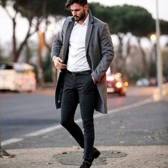 class // menswear, mens style, fashion, winter, topcoat, overcoat, denim, dress, shirt, #sponsored