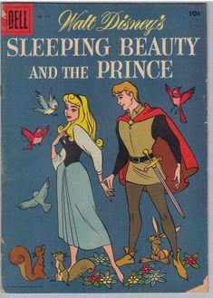 Dell - Disney - Sleeping Beauty - The Prince - Birds Vintage Disney Posters, Retro Disney, Vintage Cartoons, Disney Movie Posters, Cartoon Posters, Old Cartoons, Vintage Comics, Disney Art, Disney Sleeping Beauty