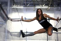 "In this undated publicity photo provided by NBC, Kacy Catanzaro competes in an episode of ""American Ninja Warrior."" Description from mysanantonio.com. I searched for this on bing.com/images"