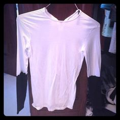 Long sleeve top Less than half black sleeve. Never worn Zara Tops Blouses