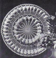 free crochet magnolia blossom doily pattern❤❤❤
