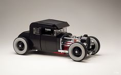 Is this the nicest Town-scale Lego hot rod ever built? TLCB regular_Tiler is the builder behind it, and you can see more of his absolutely beautiful 1930 Ford Coupe on Flickr at the link above.