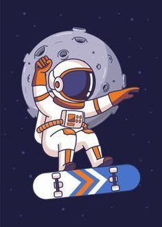 'Astronaut Star Fishing' Poster Print by Yellowline   Displate Astronaut Cartoon, Astronaut Drawing, Astronaut Illustration, Custom Hydro Flask, Castle Cartoon, Doodle Frames, Space Artwork, Hippie Wallpaper, Cartoon Profile Pics