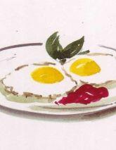 Izak Zenou #illustration #delicious #foodillustration #recipeillustration #menu #kitchen #eggsandbacon #allamerican #trafficnyc visit www.traffic-nyc.com #Wallart #licensing
