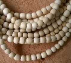 Wood Beads/ Natural Wood Beads/ Light Wood Beads/ Handcrafted