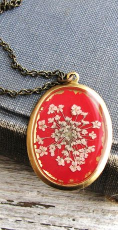 Queen Anne's Lace Pressed Necklace