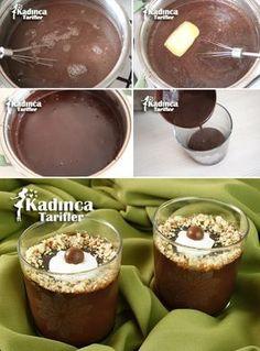 Patisserie Style Supangle Rezept - Pin This Homemade Desserts, Fun Desserts, Dessert Recipes, Chocolate Potato Chips, Turkish Sweets, Yummy Ice Cream, Dessert Cups, Turkish Recipes, Chocolate Desserts