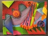 Cardboard Abstract Assemblages