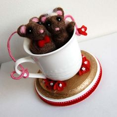 Love Mice Cake Topper by thefeltedpair on Etsy
