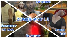 OH NOOOO! They're HERE! ZOMBIES and I can't WAIT to try it! By Modthesims's Nyx of course!