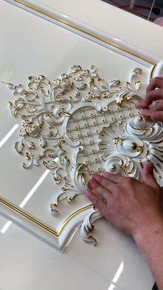 Doors with carving. Doors for luxury interiors from Starvos. Front Door Design Wood, Room Door Design, Wooden Door Design, Wall Decor Design, Gate Design, Interior Ceiling Design, Carving Designs, Furniture Makeover, 3d Wallpaper Mural