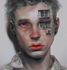 Portrait Illustration The Digital Works of Xhxix L'art Du Portrait, Digital Portrait, Digital Art, Digital Image, Digital Paintings, Oil Paintings, Poses References, Surreal Art, Cool Art