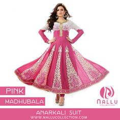Become the object of everyone's #attention like #Madhubala Drashti Dhami dressed in this pink faux #georgette semi-stitched #anarkali suit. Get the Look: http://goo.gl/SAIKmA