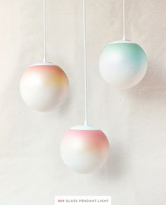 DIY ombré pendant light. #CheckOutMyCraftMartha