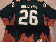 199cce10fe3 MIKE SULLIVAN 99'00 Phoenix Coyotes Alternate Penguins Game Worn Used  Jersey COA