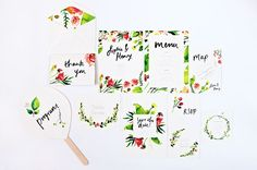 Oh So Beautiful Paper: Sophie + Henry's Vibrant Garden Party Wedding Invitations