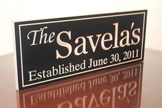 Wedding Established Sign, Wedding Gift For Parents, Housewarming Gift, Personalized Last Name Sign, Last Name Wood Sign, Last Name Signs, Family Wood Signs, Family Name Signs, Popular Last Names, Wedding Gifts For Parents, Making Signs On Wood, Established Sign, Custom Wood Signs
