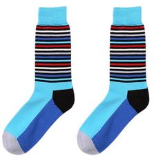 Winter Socks Unisex Stripe Patchwork Cotton Socks Multi-Color Women Men popsocket calcetines mujer #3