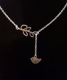 Pretty Lariat Bird Necklace by PersnicketyPatty on Etsy, $12.99