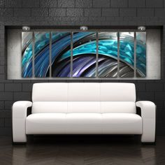 Modern Abstract Metal Wall Sculpture Art Work Contemporary Painting Home Decor #Abstract