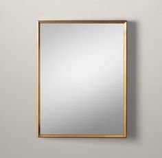 RH's Metal Beveled Mirror:Our sleek metal frame has a clean finish and minimalist detail for a modern, live-anywhere sensibility.