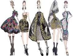 Amapola Toscana: J. Larkowsky Illustration for Dolce & Gabbana Fall