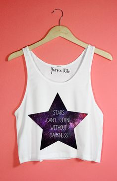 Stars Can't Shine Without Darkness Crop Tank Top - Yotta Kilo