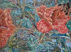 Floral painting by Hank Safre. See his work at #DECAF15!