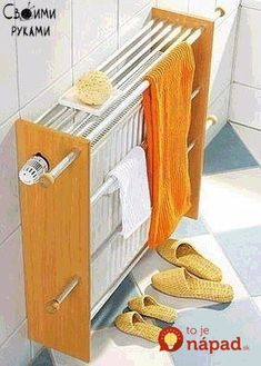 Handtuchtrockner You do not need a towel heater: This self-built towel dryer fits normal heaters. As a result, more towels on the heater space. We show you how to build the towel holder yoursel