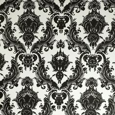 Damsel Removable Wallpaper in Black & White