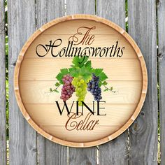 Personalized WINE CELLAR Round metal sign