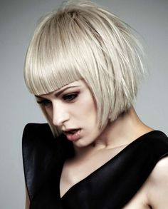 Short bob hairstyle with straight bang :: one1lady.com :: #hair #hairs #hairstyle #hairstyles