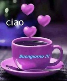 Fialová je nádherná The purple is gorgeous Good Morning Gif Images, Good Morning Picture, Good Morning Good Night, Italian Greetings, Italian Memes, Italian Phrases, Good Morning Coffee, I Love Coffee, Morning Quotes