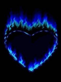 blue fire heart