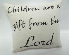 Children Are A Gift Mini Pillow Tuck . Shelf by luvinstitchin4u