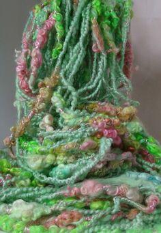 Handspun Art Yarn - BUTTERFLY GARDEN